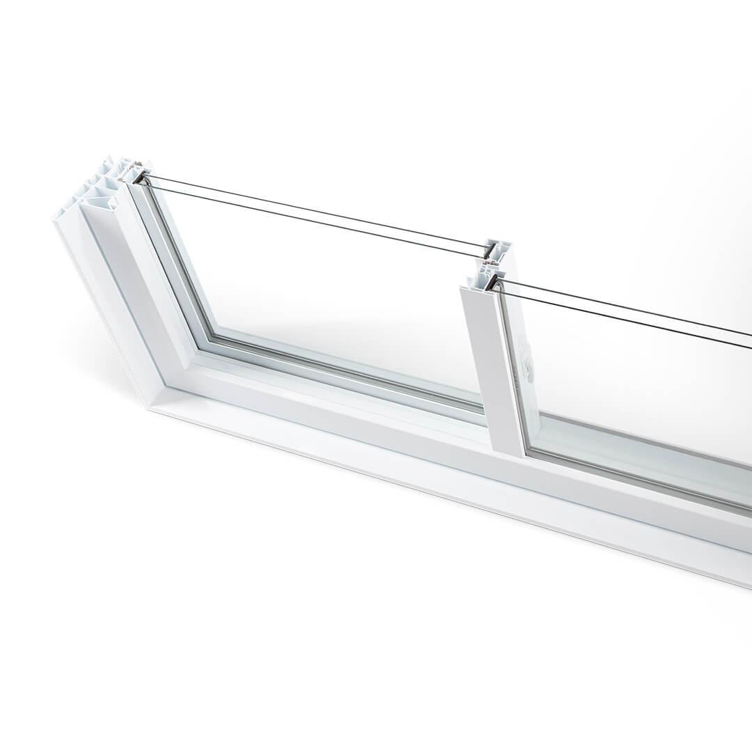 Fenêtre Coulissante Double Ou Triple Verre En Pvc De Couleur