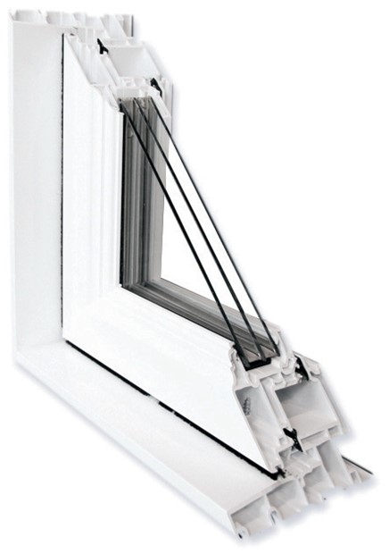 Triple-glazed window with low-E coating and argon gas fill for maximum energy efficiency